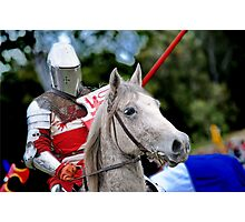 Medieval Knight On Horse Ready For Joust Photographic Print