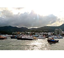 The Crowded Port - Hong Kong. Photographic Print