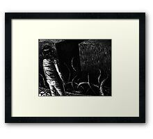 Lucy and the Precipice Framed Print