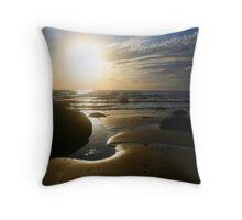 Sunset in Norfolk Throw Pillow