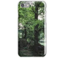 Clump of trees near rydal Water Lake District England 19840520 0044 iPhone Case/Skin