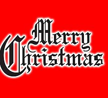 Merry Christmas, Old English Type, XMAS by TOM HILL - Designer