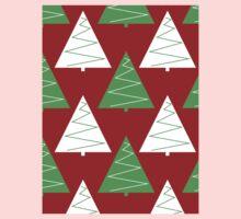 Red & Green Christmas Trees Kids Tee