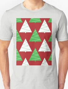 Red & Green Christmas Trees T-Shirt