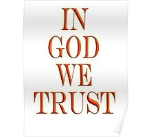 In God we trust, American, Official Motto, America, USA Poster