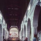 Nave St Martins church Bowness Lake District England 198405210001 by Fred Mitchell