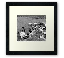 4  KIDS AND THEIR HOME Framed Print