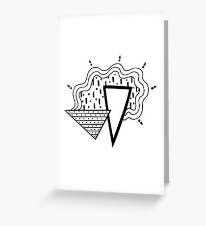 Whimsical Modernism Greeting Card