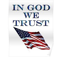 American, Official motto, In God we trust, USA, America, Americana, Poster