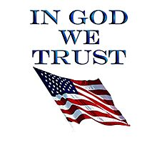 America, In God we trust, USA, American official motto Photographic Print