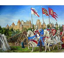 Siege of Carcassonne Photographic Print