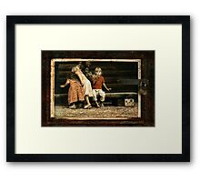 Let me tell you the story Framed Print