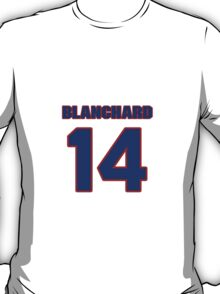 National football player Cary Blanchard jersey 14 T-Shirt