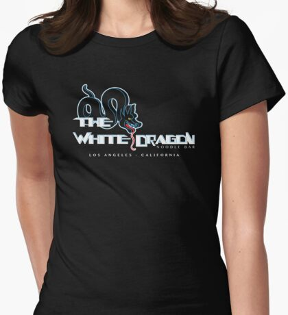 White Dragon - Noodle Bar (Black) Womens Fitted T-Shirt