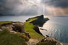 Neist Point Sunbeams. Waterstein. Isle of Skye. Scotland. by PhotosEcosse