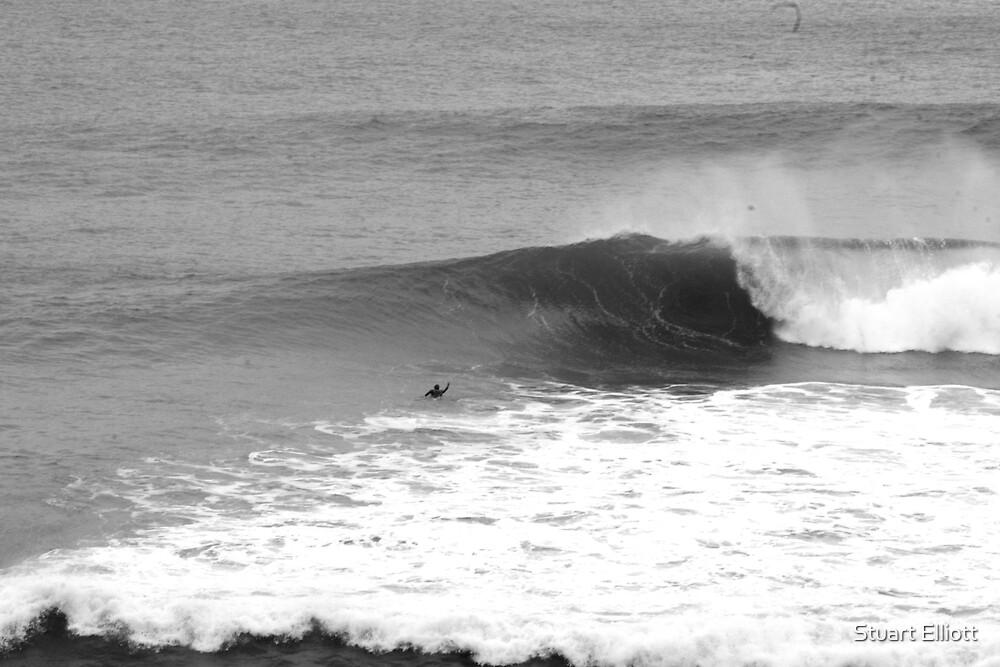 surfing alone by Stuart Elliott