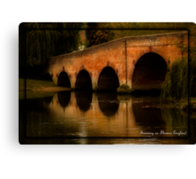 SONNING ON THAMES ENGLAND Canvas Print