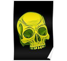 Skull - Yellow Poster