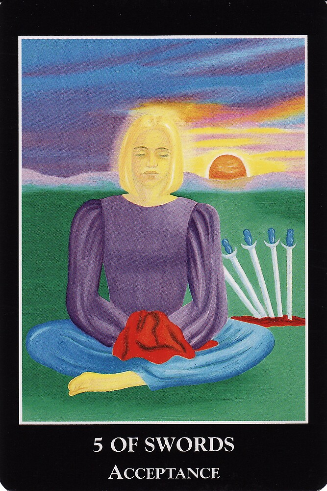 5 of Swords - Acceptance by Lisa Tenzin-Dolma