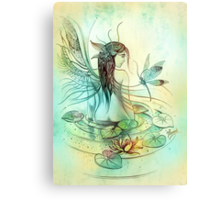 """""""THE AQUARIUS"""" - Protective Angel for Zodiac Sign Canvas Print"""
