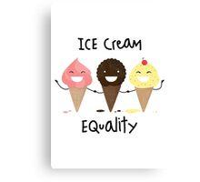 Ice cream Equality Canvas Print