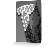 Theatre Plaza Greeting Card
