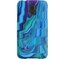 Blue Tones Flowing Together Abstract Design Pattern Art Samsung Galaxy Case/Skin