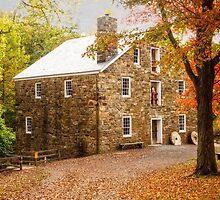 Cooper Grist Mill in Autumn by Debra Fedchin