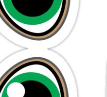Magpie Eyes cute girl green Sticker