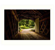 Cabin Run Bridge I Art Print