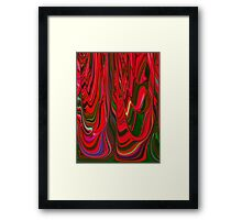 Red Green Blue Ribbon Abstract Design Pattern Holiday Framed Print