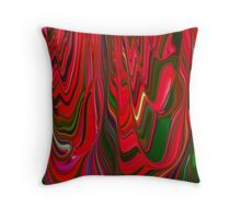 Red Green Blue Ribbon Abstract Design Pattern Holiday Throw Pillow