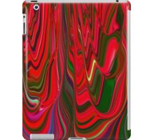Red Green Blue Ribbon Abstract Design Pattern Holiday iPad Case/Skin
