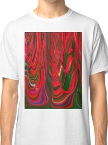 Red Green Blue Ribbon Abstract Design Pattern Holiday Classic T-Shirt