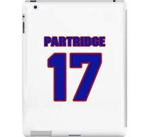 National football player Rick Partridge jersey 17 iPad Case/Skin