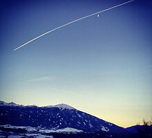 Plane over Innsbruck by LorenElise