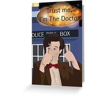 Doctor Who - Matt Smith Greeting Card