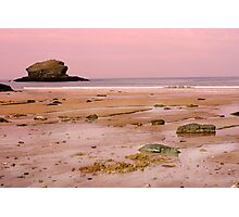 Portreath Beach in Cornwall Photographic Print