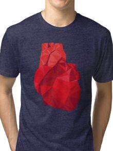 Polygon Heart Tri-blend T-Shirt