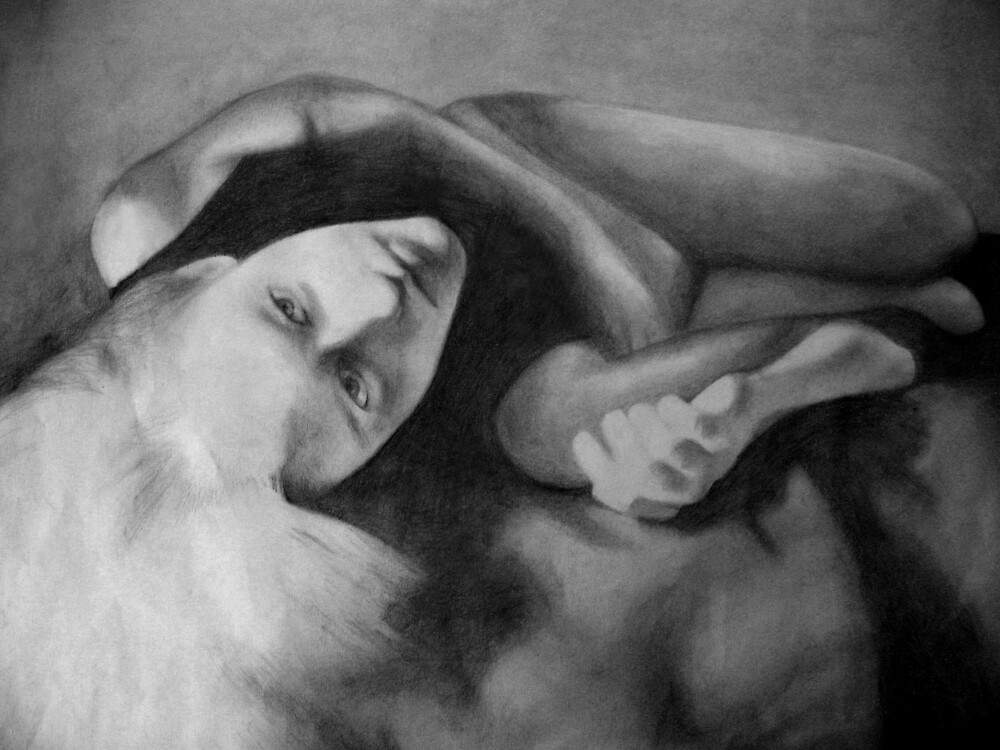 Temptation (in pencil) by Chelsea Kerwath