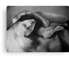 Temptation (in pencil) Canvas Print