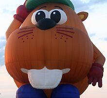 Beaver Hot Air Balloon by lilkarl