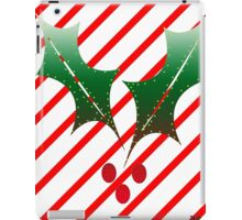 Candy Cane Stripes n Holly iPad Case/Skin
