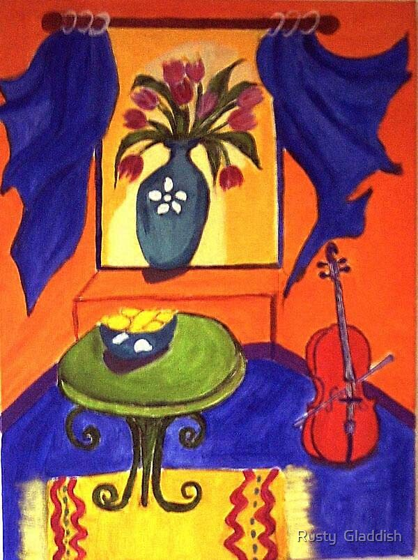 The Red Cello by Rusty  Gladdish