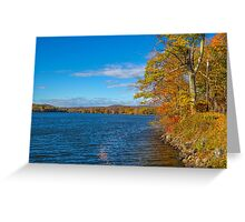 USA. Connecticut. Lake Waramaug. Greeting Card