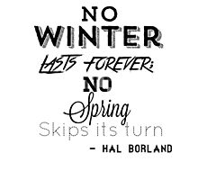 no winter lasts forever Photographic Print