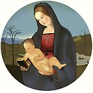 """Reproduction of Raphael's  """"Madonna Connestabile""""  by YourSuccess"""