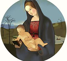 "Reproduction of Raphael's  ""Madonna Connestabile""  by YourSuccess"
