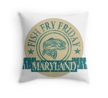 MARYLAND FISH FRY Throw Pillow