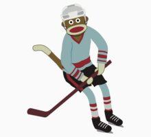 Sock Monkey Hockey Player Kids Clothes